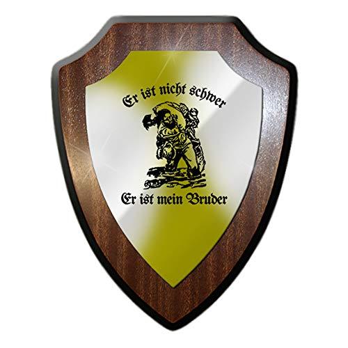 Wappenschild Er ist nicht schwer Er ist mein Bruder Kameradschaft BW #26541