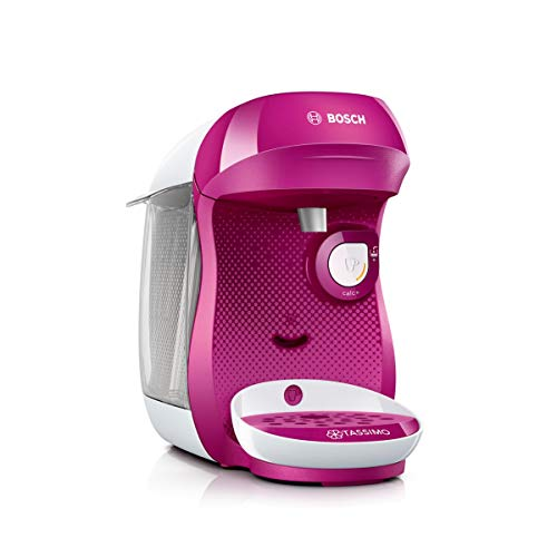 Bosch TAS1001 Tassimo Happy Multi-Serve Single-Serve-Kaffeemaschine, 1400 W, 0,7 Liter, Pink