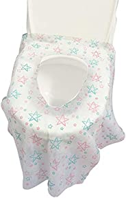 Disposable Toilet Seat Cover - 40 Counts US Size Waterproof Individually Wrapped Portable Travel Toilet Seat C