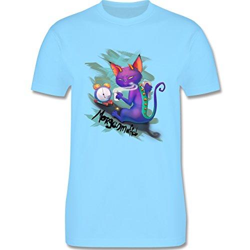 Statement Shirts - Morgenmuffel - Herren Premium T-Shirt Hellblau