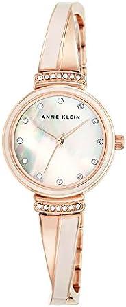 Anne Klein Womens Quartz Watch, Analog and Stainless Steel- AK-2216BLRG