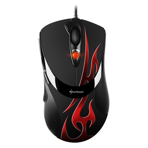MUSIC ANGEL  FireGlider Optical - Optische Gaming Maus mit 3000 dpi