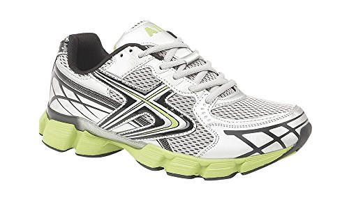 Herren Stoßdämpfende Laufschuhe Jogging Turnschuhe Größe UK 7 8 9 10 11 12 Argent Silber/Limettengrün