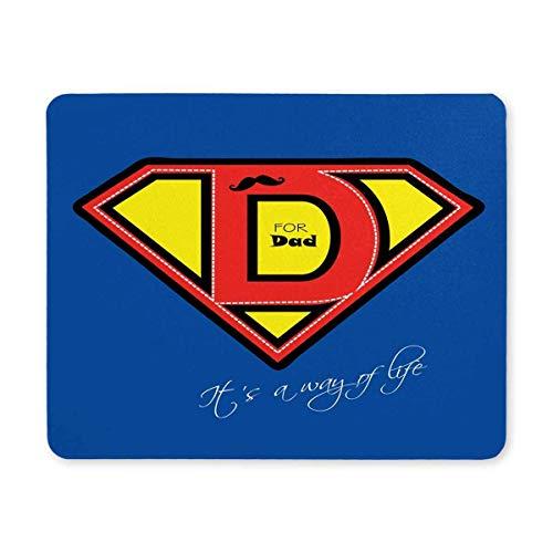 Luancrop Vatertags-Superheld-Vati-Blaue dauerhafte Computer-Schreibtisch-Briefpapier-Gummizubehör-Mausunterlagen für Geschenk