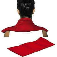 Preisvergleich für Rapssamenkissen 50x20 3-Kammer Bio Stoff rot | Wärmekissen / Körnerkissen