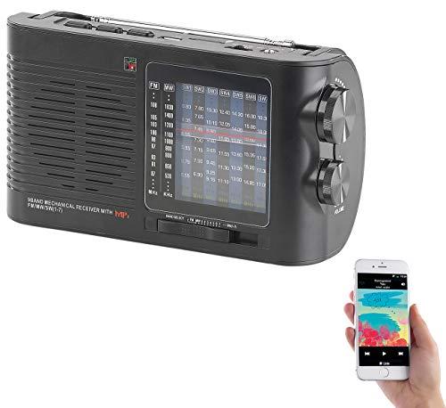 auvisio Analogradio: Analoger 9-Band-Weltempfänger mit Bluetooth, USB, SD, AUX und Akku (Kurzwellen-Radio) Band Bluetooth
