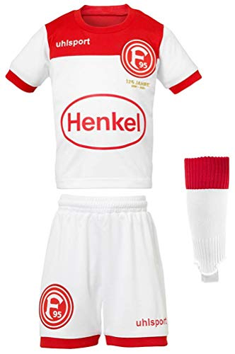 uhlsport Fortuna Düsseldorf Mini-Kit Kinder Baby Heimtrikot 2019/2020 weiß (104/110) -
