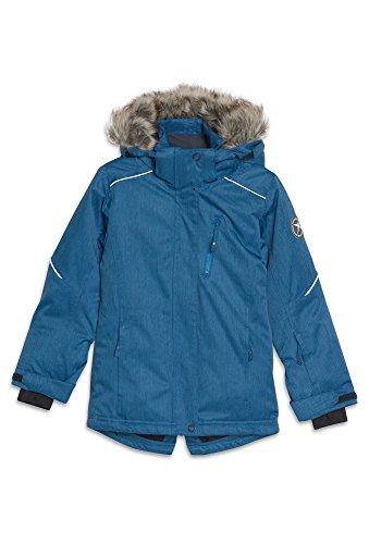 ROSSI Wasserdichte Winterjacke für Mädchen - Ski Winter-Jacke Kinder Outdoor Sport Funktion blau-meliert,158/64 Mädchen Ski-snowboard-jacke