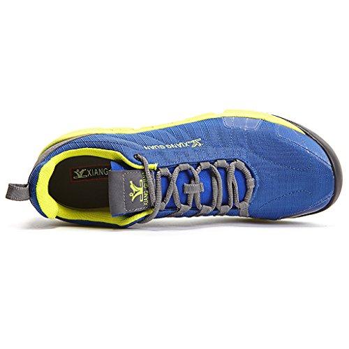 Laufen Trainers Herren Sport Gehen Jogging Turnschuhe Sport Run Light Weight Fitness-Schuhe 16091 Blau