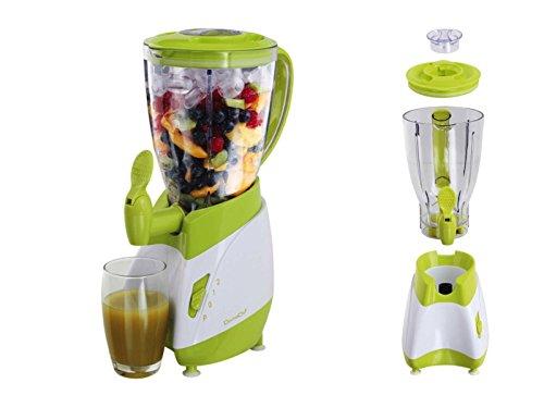 Batidora con grifo (Mix Depósito de 1,5litros Smoothie maker Licuadora (Blender, licuadora, 350W, leche Coctelera, cóctel de Maker, Verde)