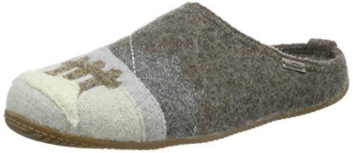 Living Kitzbühel Unisex-Erwachsene Pantoffel Appl. Schi & Gondel Pantoffeln Braun (hellbraun 260)