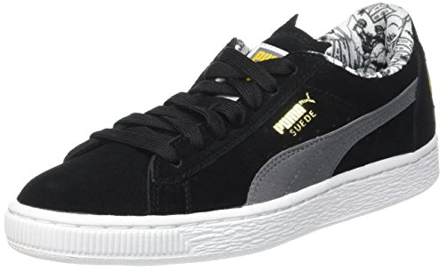 Puma Unisex Kids' Suede Batman Jr Low-Top Trainers, Black (Black/Grey 01), 3 UK 35 1/2 EU