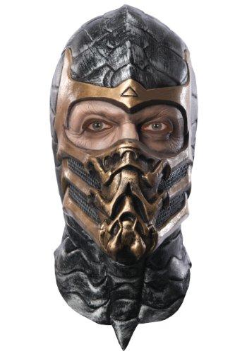 Mortal Kombat Skorpion Delux Maske für Erwachsene Latex (Mortal Kombat Subzero Für Erwachsenen Kostüm)