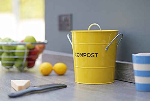Zoom IMG-1 metal kitchen compost caddy composting