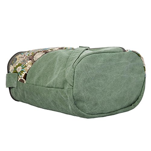 Chang Spent semplice borsa secchiello di tela casuale di Crossbody delle donne , green Green