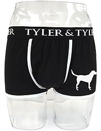 Tyler & Tyler - Boxer Homme Noir, Labrador Blanc