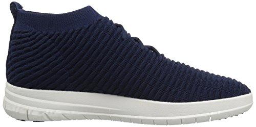 FitFlop Herren Uberknit Slip-On High Top Sneaker Waffle Hohe, Schwarz Blue (Dark Sapphire)