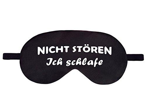 Schlafmaske Reise Relax Augen Abdeckung Bett Emoji Nickerchen Augenbinde Seine Schwarz Muster Nicht stören [042] -