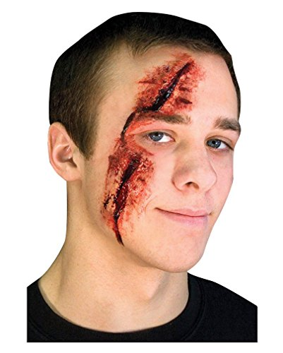 Slashed Eye Halloween Latex Wunde zum aufkleben (Make Up Wunde)