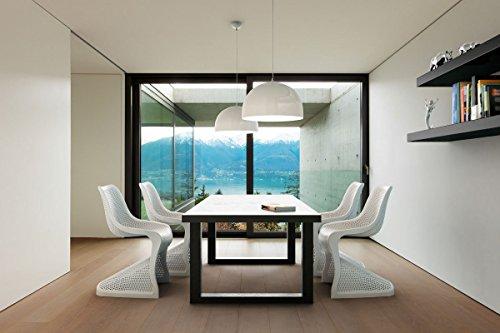 CLP Design Kunststoff-Stuhl BLOOM, XXL Gartenstuhl, Freischwinger Stuhl belastbar bis 160 kg Hellgrau - 7