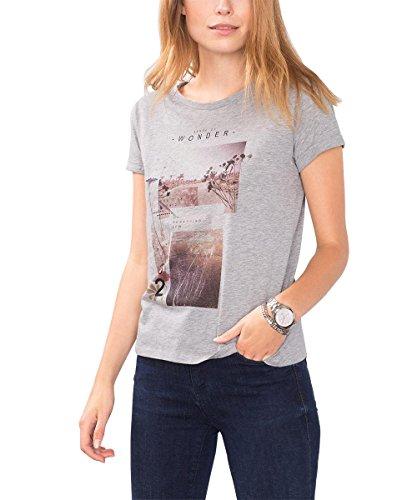 edc by ESPRIT 096CC1K060, T-shirt Donna, Grigio (LIGHT GREY 5), 36 (Taglia Produttore: Small)