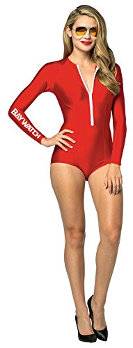 Baywatch One Piece Bathing Suit Costume - One Size