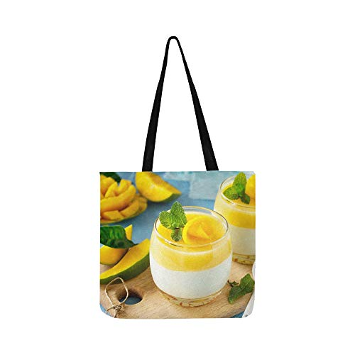Berry Fruit Jelly with Fresh Fruit Canvas Tote Handbag Shoulder Bag Crossbody Bags Purses for Men and Women Shopping Tote