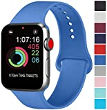 AK Compatibili Apple Watch Cinturino 42mm 38mm 44mm 40mm, Sportivo in Silicone Cinturini Compatibili iWatch Series 4, Series 3, Series 2, Series 1 (10 Royal Blue, 42/44mm S/M)
