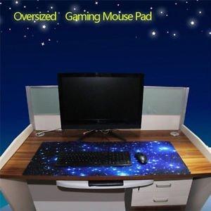 Tradico® Brand New Large Galaxy Anti-Slip Laptop Computer Gaming Large Mouse Pad Keyboard Mat Hu