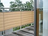 Floracord Balcone Rivestimento Border - Privacy Screen per Balcone e terrazza in Diversi Colori e Dimensioni, Inferno-Silbergrau, 90 x 300 Centimetri
