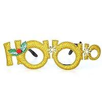 ZFWB Christmas decorations glasses adult children toys Santa snowman antler glasses party dress up props 22*6.5cm B