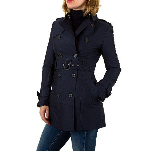 Trenchcoat Kurz Mantel Für Damen , Dunkelblau In Gr. Xl bei Ital-Map