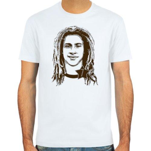 SpielRaum T-Shirt Henrik Larsson ::: Farbauswahl: skyblue, sand oder weiß ::: Größen: S-XXL ::: Fußball-Kult