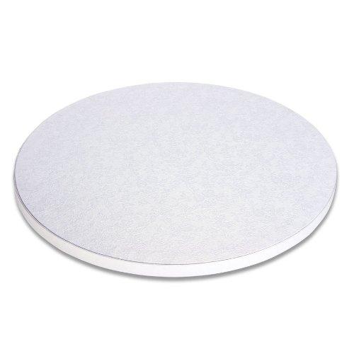 Städter 900035 Cake Board, plateau à gâteau rond à gâteau, plastique, blanc, 35 x 35 x 2 cm,