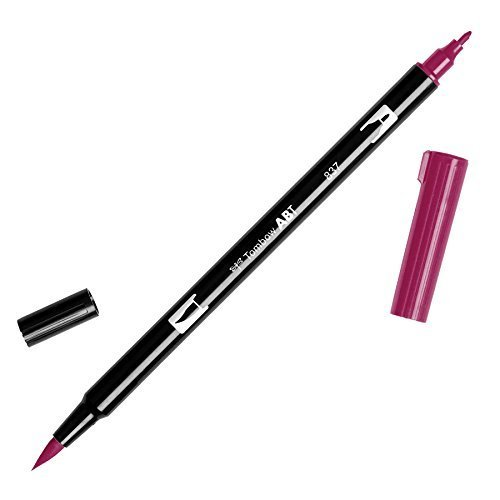 Tombow Dual Brush Pen Art Marker, 837 - Wine Red, 1-Pack by AMERICAN TOMBOW INC