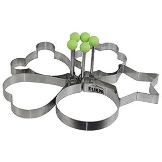 Dianoo 5PCS Gute Qualität Rostfreier Stahl Pfannkuchenform Schimmel Ring Kochen Gebraten Ei Former, 5PCS