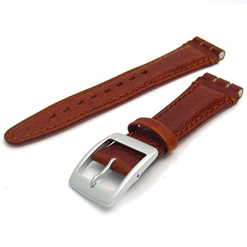 leather-watch-strap-band-for-swatch-irony-chrono-19mm-by-condor-tan-camel-grain-with-silver-colour-b