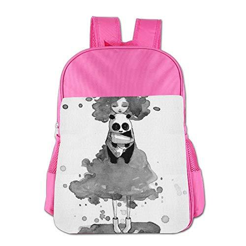 (Clown Panda Children School Backpack Carry Bag for Teens Boys Girls)