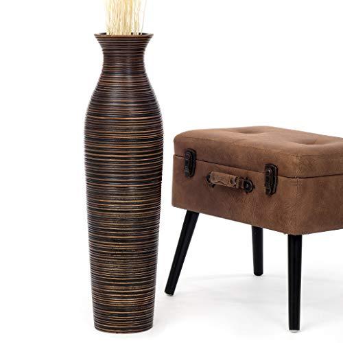 Leewadee Deko-Bodenvase - Holz - 75cm hoch (braun)