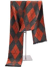 062a76596241 GBY Cachemire Hommes Foulard De Mode Crispé Longues Foulards Pour Hommes  Automne Hiver Léger Rouge Orange