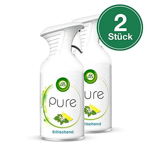 Air Wick PURE Erfrischend - Zitrisch-frisches Duftspray geruchsneutralisierend & ohne feuchten Niederschlag - Duft: Zitronenblüte - 2 x 250 ml