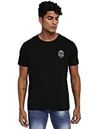 RUF & TUF Solid Black Coloured Cotton T-Shirt