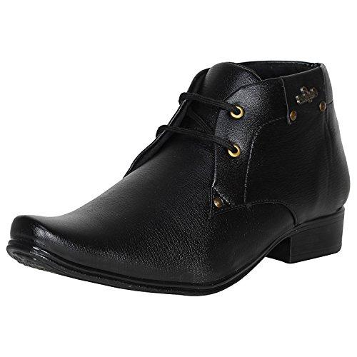 Kraasa Men's Blacks Synthetic Formal Shoes - 10
