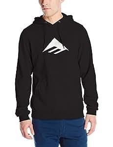 Emerica Triangle PO–Felpa con cappuccio, Uomo, Sweat Triangle PO Hood, nero, S