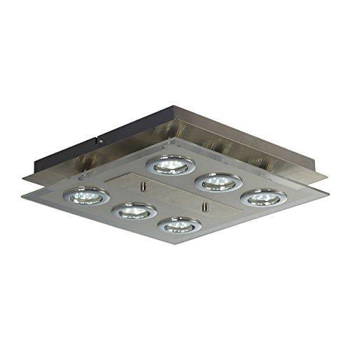 Lámpara de techo LED con 6 focos GU10 I 6 x 3W...