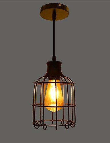 Illuminazione jiaily retrò nero contratta del ferro battuto Birdcage illumina