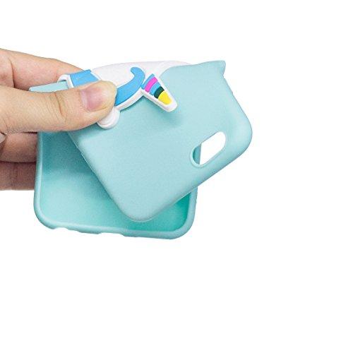 iPhone 6S Custodia, case Paraurti dassorbimento con TPU Back-Anti-Scratch Cover ( 3D Cartoon Gufo + rosa ) iPhone 6/6s Copertura Shell 4.7 blu 3
