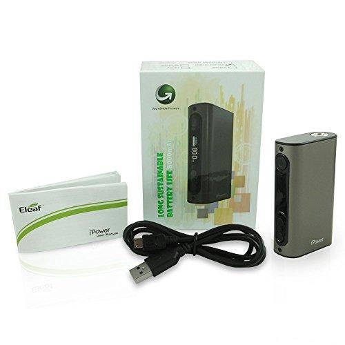 Auténtico Eleaf IPOWER 80W Cigarrillo electrónico MOD 5000 mAh (Gris) Sin Tabaco y Sin Nicotina