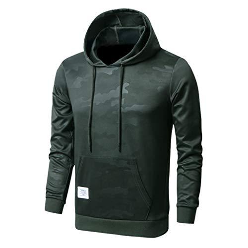 Elecenty Herren Basic Kapuzenpullover Sweatjacke Pullover Hoodie Sweatshirt Einfarbige Bluse Hoodies Outwear -