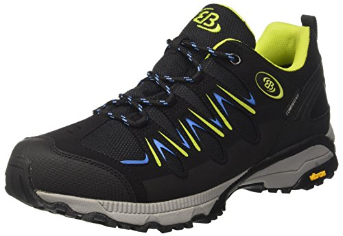 Bruetting Unisex-Erwachsene Expedition Walkingschuhe, Schwarz/Lemon/Blau, 38 EU